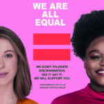 "Poster advertising the ""we are all equal"" campaign"