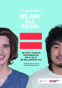 Poster titled We Are All Equal